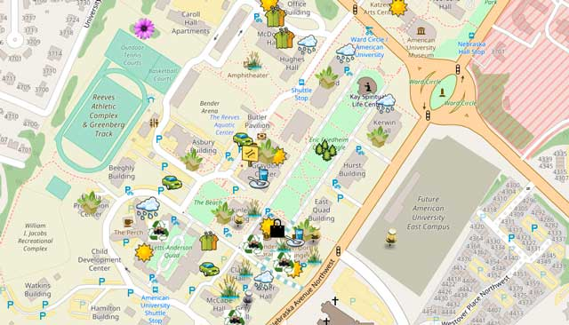 Screenshot of the virtual sustainability map