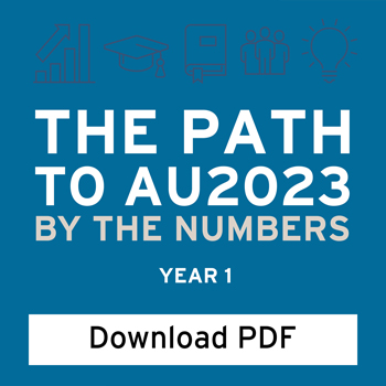 Infographic: By the Numbers. The Path to AU 2023.