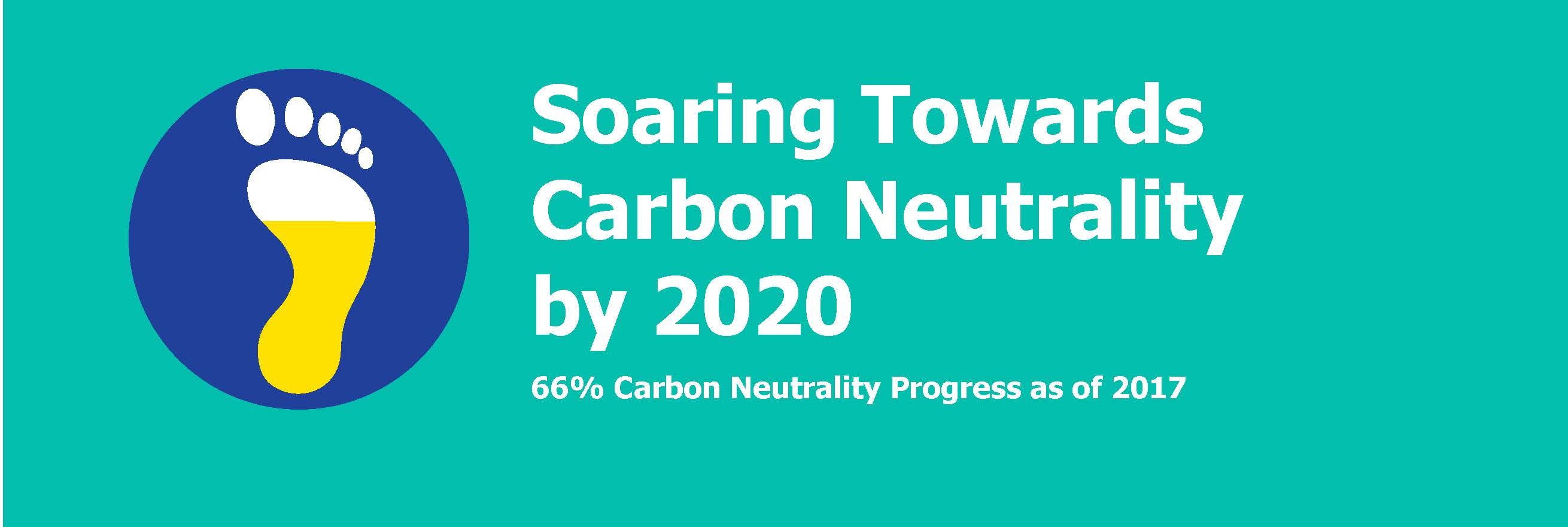 Soaring Towards Carbon Neutrality by 2020. 66% Carbon Neutrality Progress as of 2017