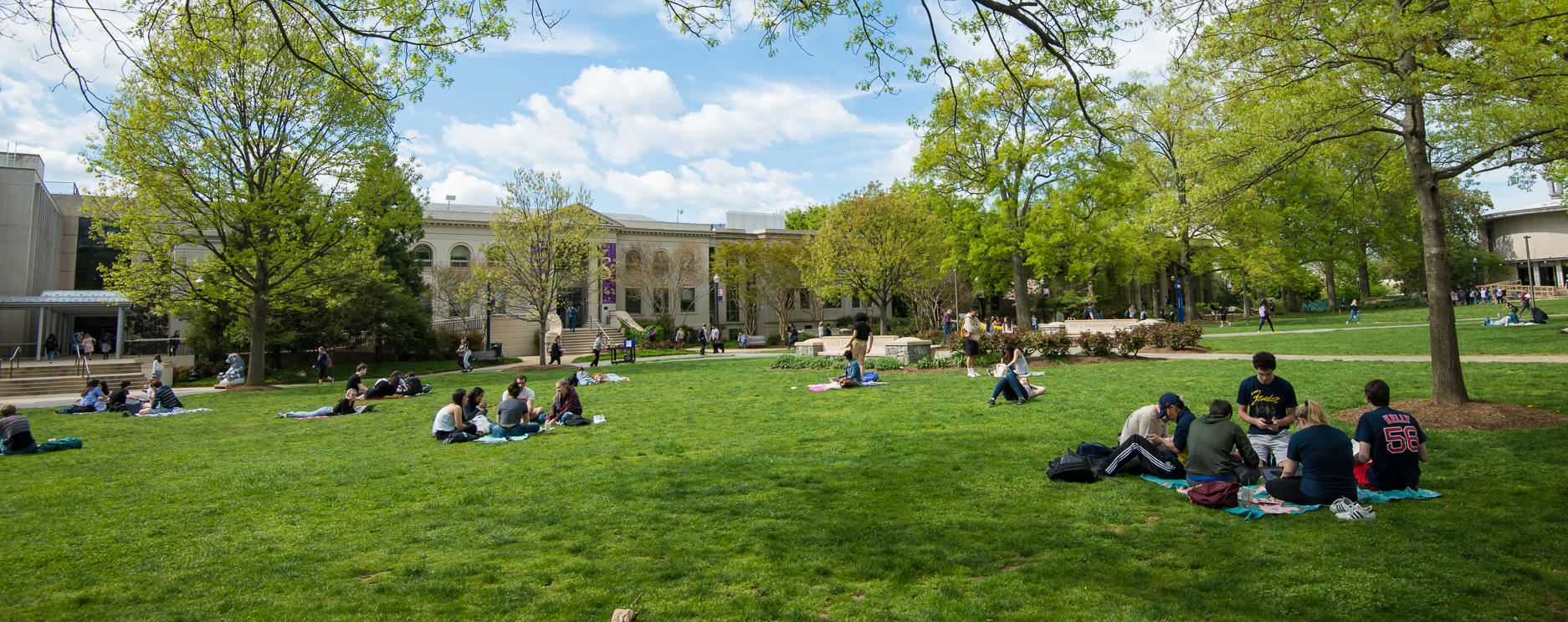 Sunny Day American University Quad