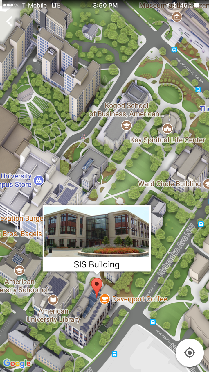 Tour AU - A first-hand look at life at American University ... Campus Map App on
