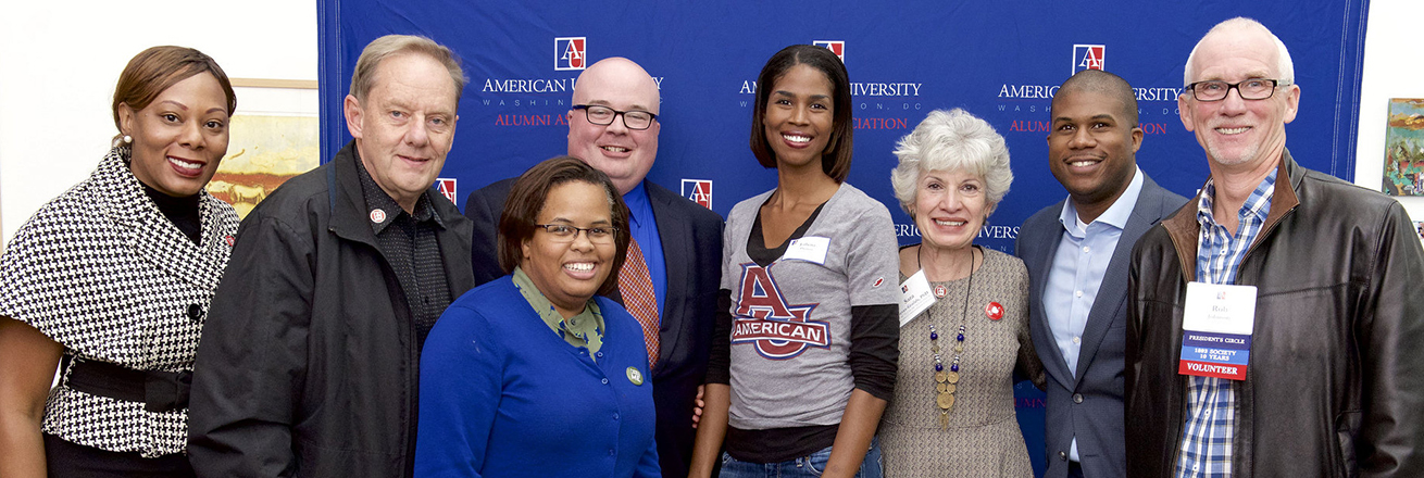Alumni Board members at All-American Weekend