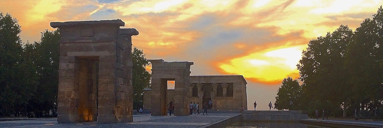 Templo de Debod in Madrid at sunset