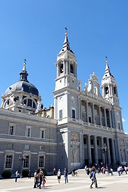 The exterior of Madrid's Cathedral.