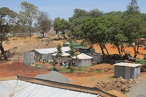 Homes in Kibera, Nairobi
