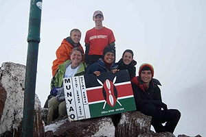 AU Nairobi students on Mount Kenya.