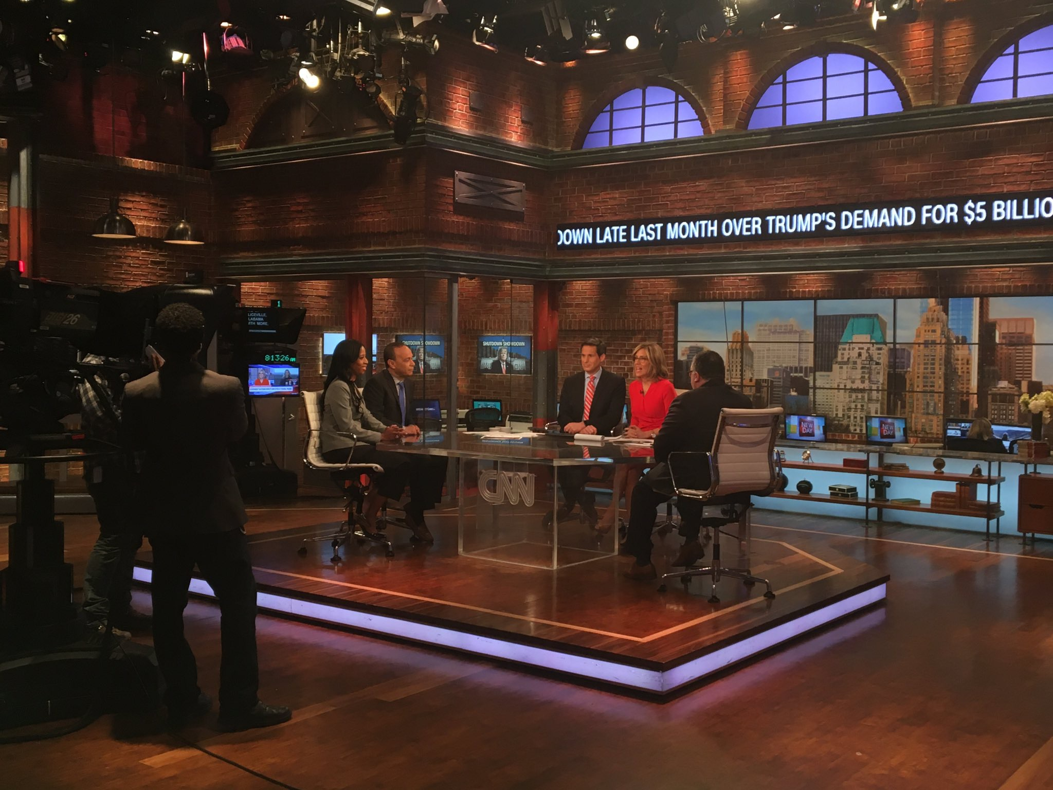 the stage of CNN's New Day in New York