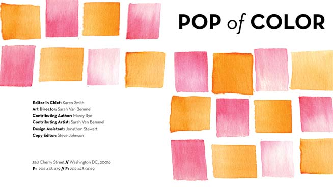 Pop of Color AU design show 2015