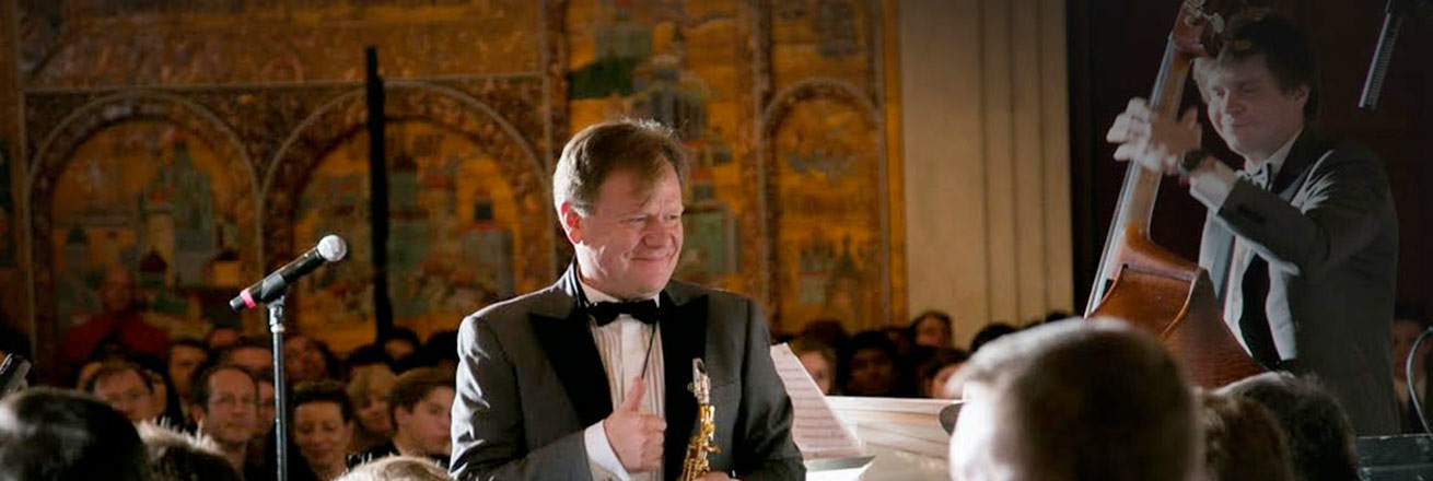 Igor Butman at Carmel Institute concert, October 2015.