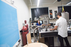 Students work in the new state-of-the-art LIGO laboratory