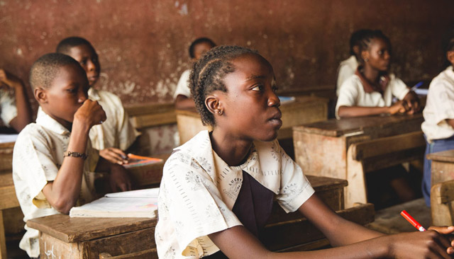 Nigerian schoolchildren in class. Photo: Doug Linstedt on Unsplash