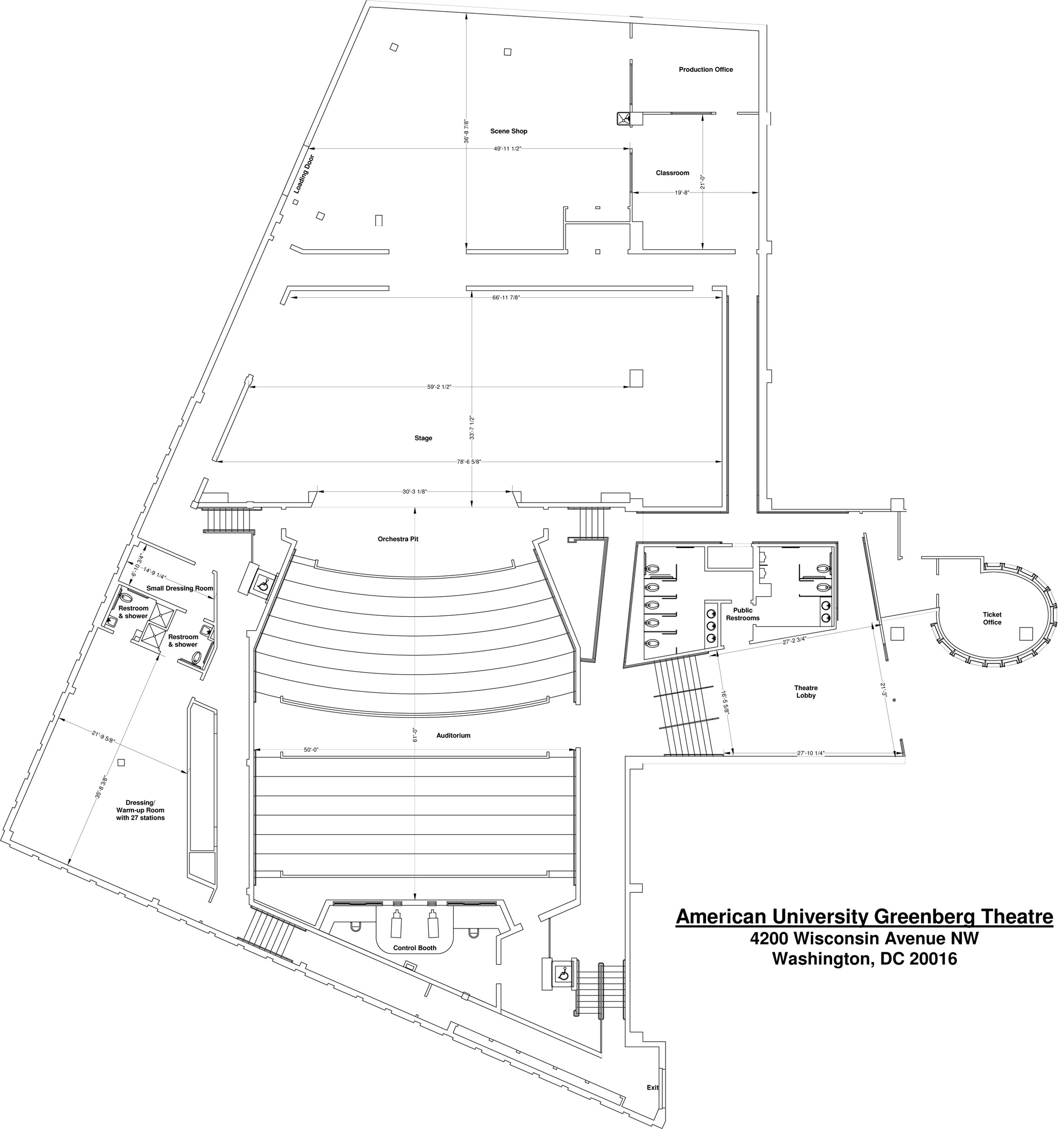 Greenberg Theatre ground plan