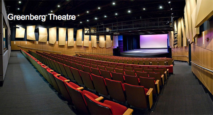 Greenberg Theatre seating and stage