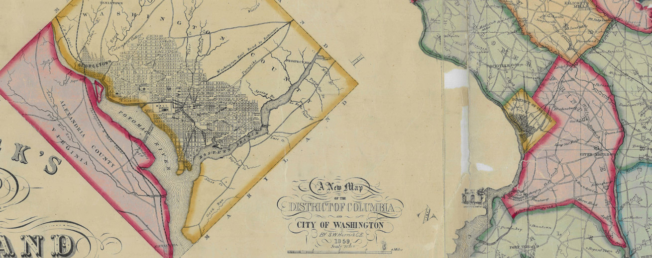 1859 map of DC