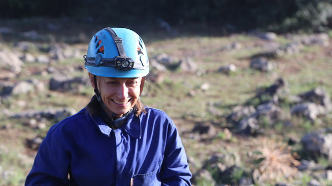 Becca Peixotto is part of the expedition team that found fossils of Homo naledi.