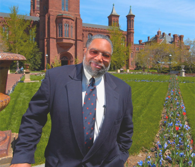 Lonnie Bunch on Smithsonian grounds.