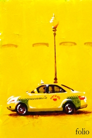 Poster for Folio. A taxi in front of a streetlight.