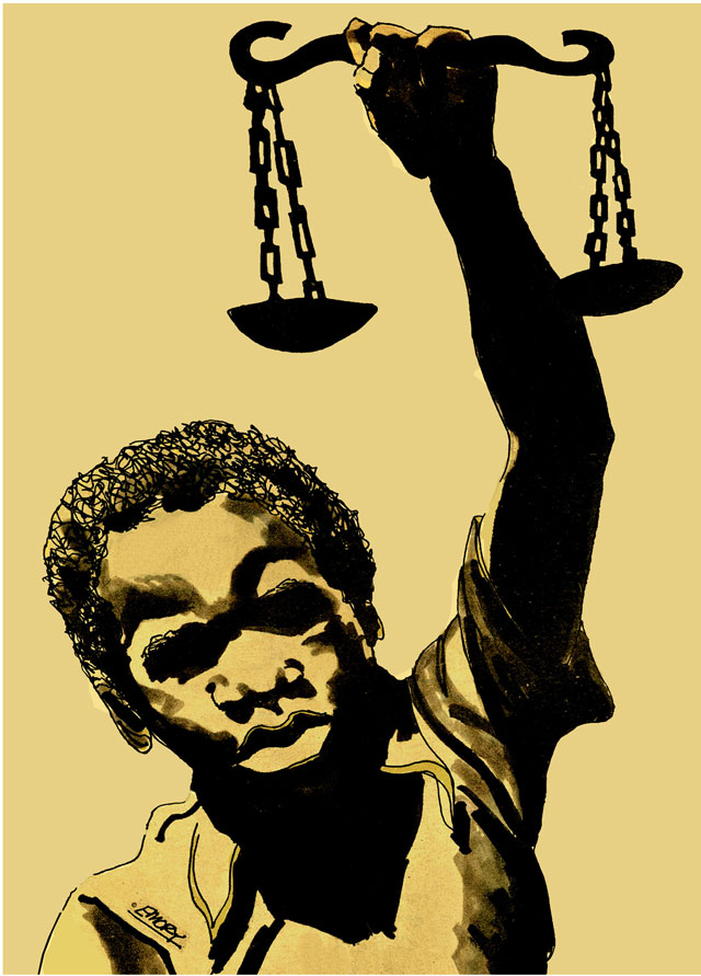 Justice Scales by Emory Douglas