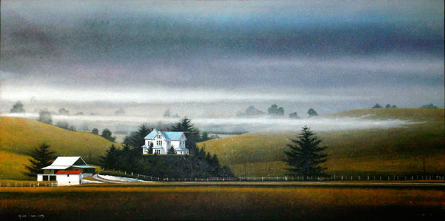 Fog Lift - Lower Valley by William Dunlap