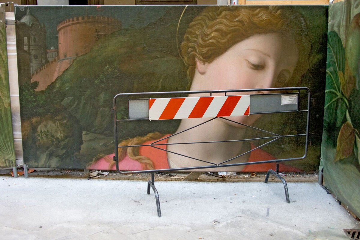 Barrier, Florence, Italy, by Frank DiPerna