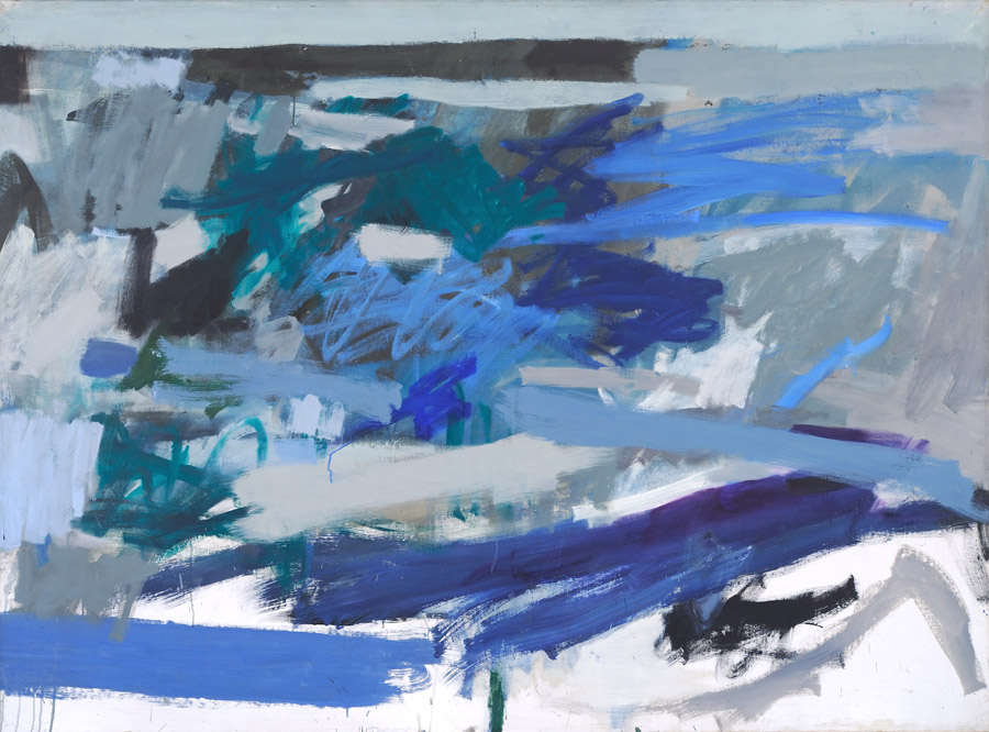 Helene Herzbrun, Landscape (Rising from Purple), c. 1958-1960.