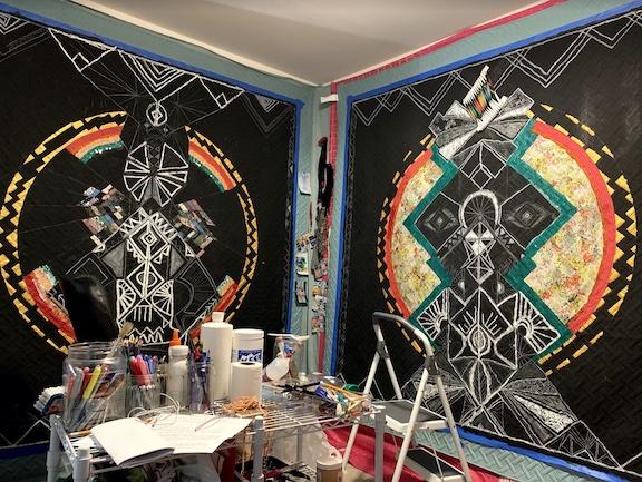 Works in Robles-Gordon's studio