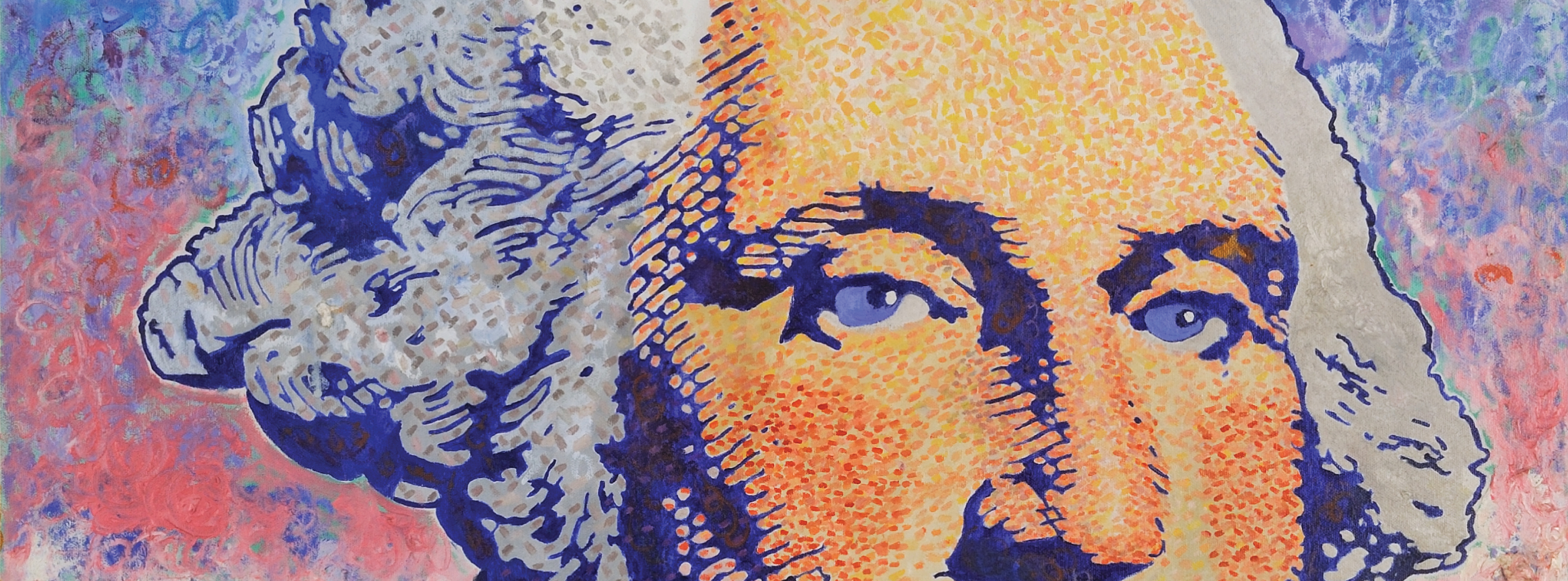 Pop Art painting of George Washington