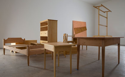 Angle of Repose, 2015. Photo of wooden furniture.