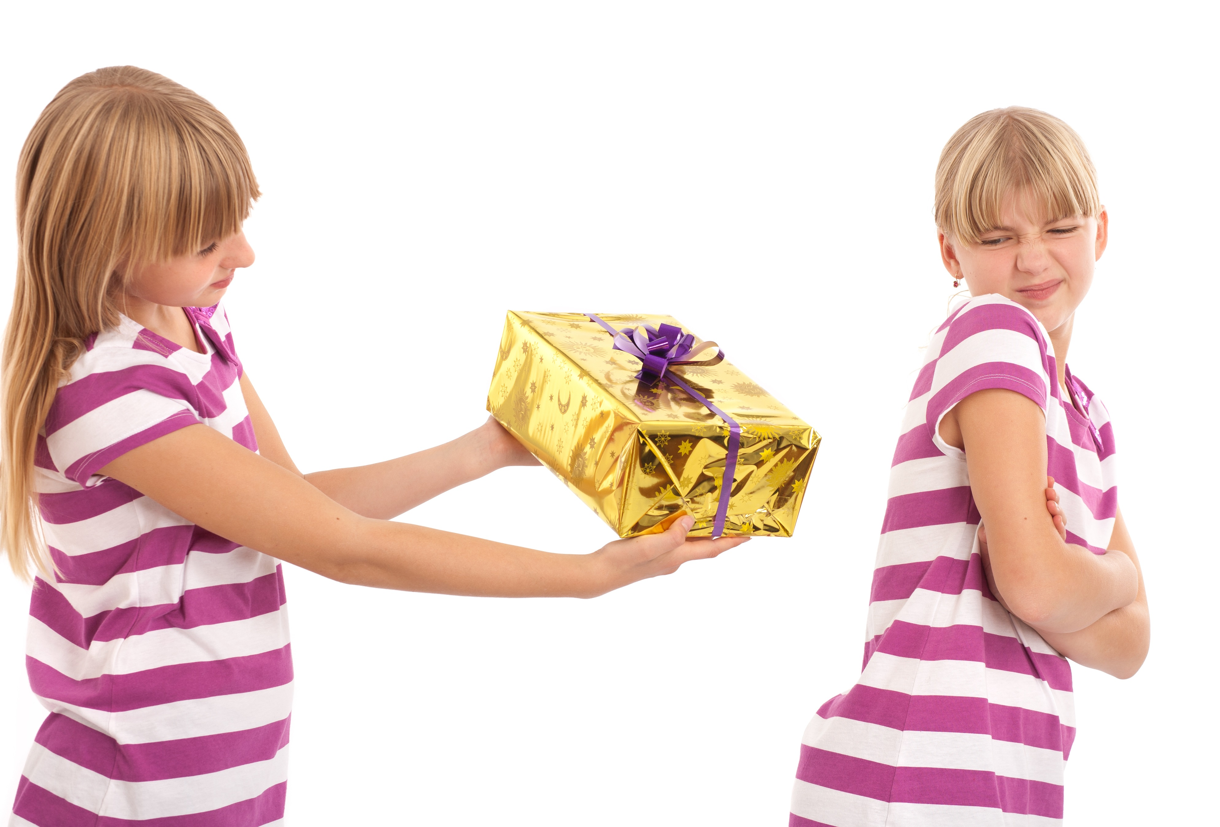 Girl not wanting gift