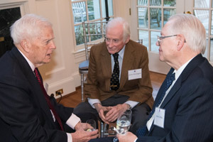 Carmel Institute Advisory Committee members Symington and Collins chat with Librarian of Congress James Billington.