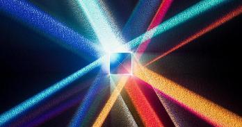 Light passing through a prism