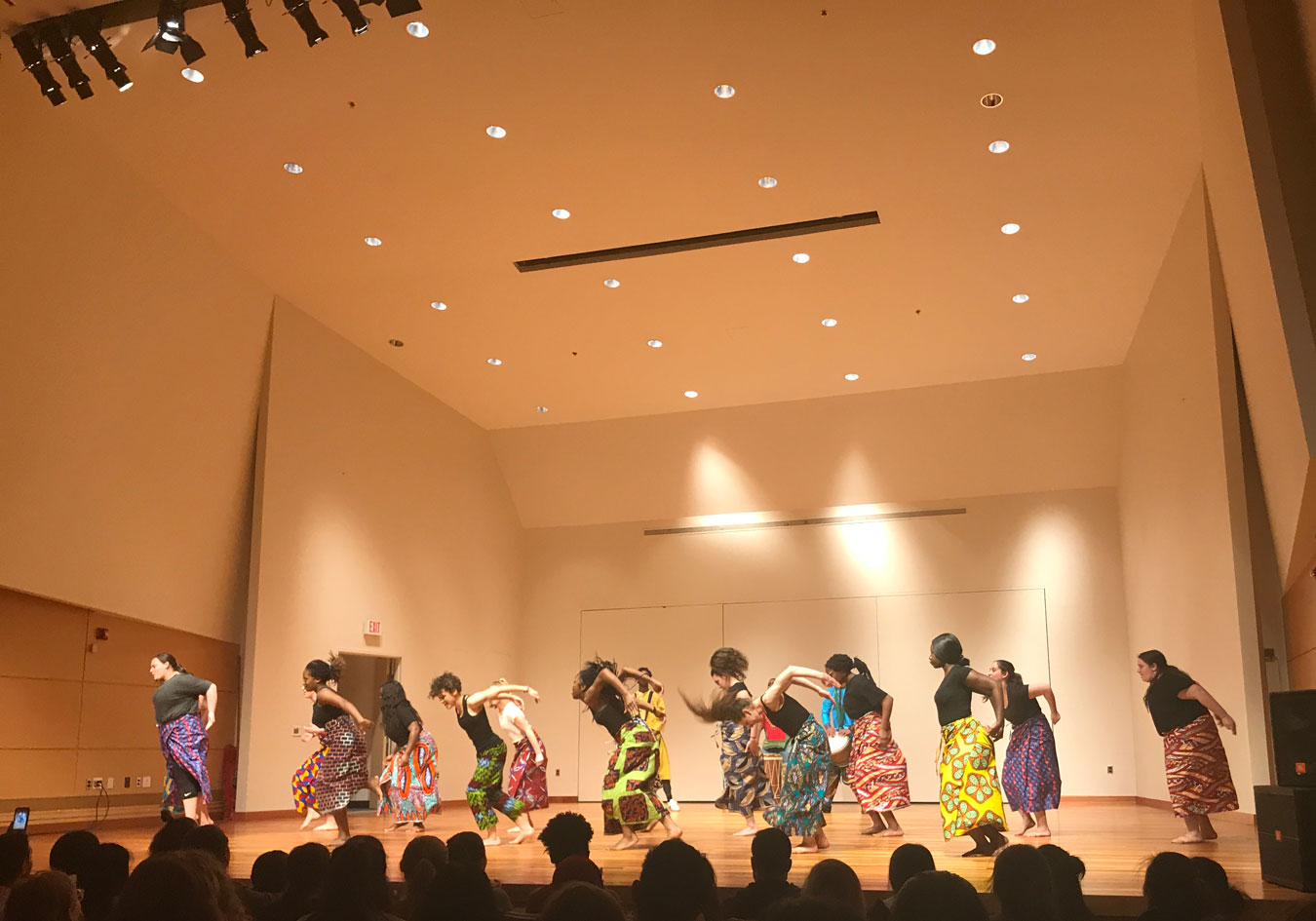 Students perform in the semi-annual AU Dances performance