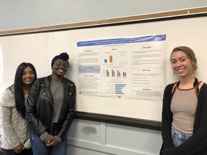 Anji Persuad, Yamai Jack and Danielle Dumais and their poster