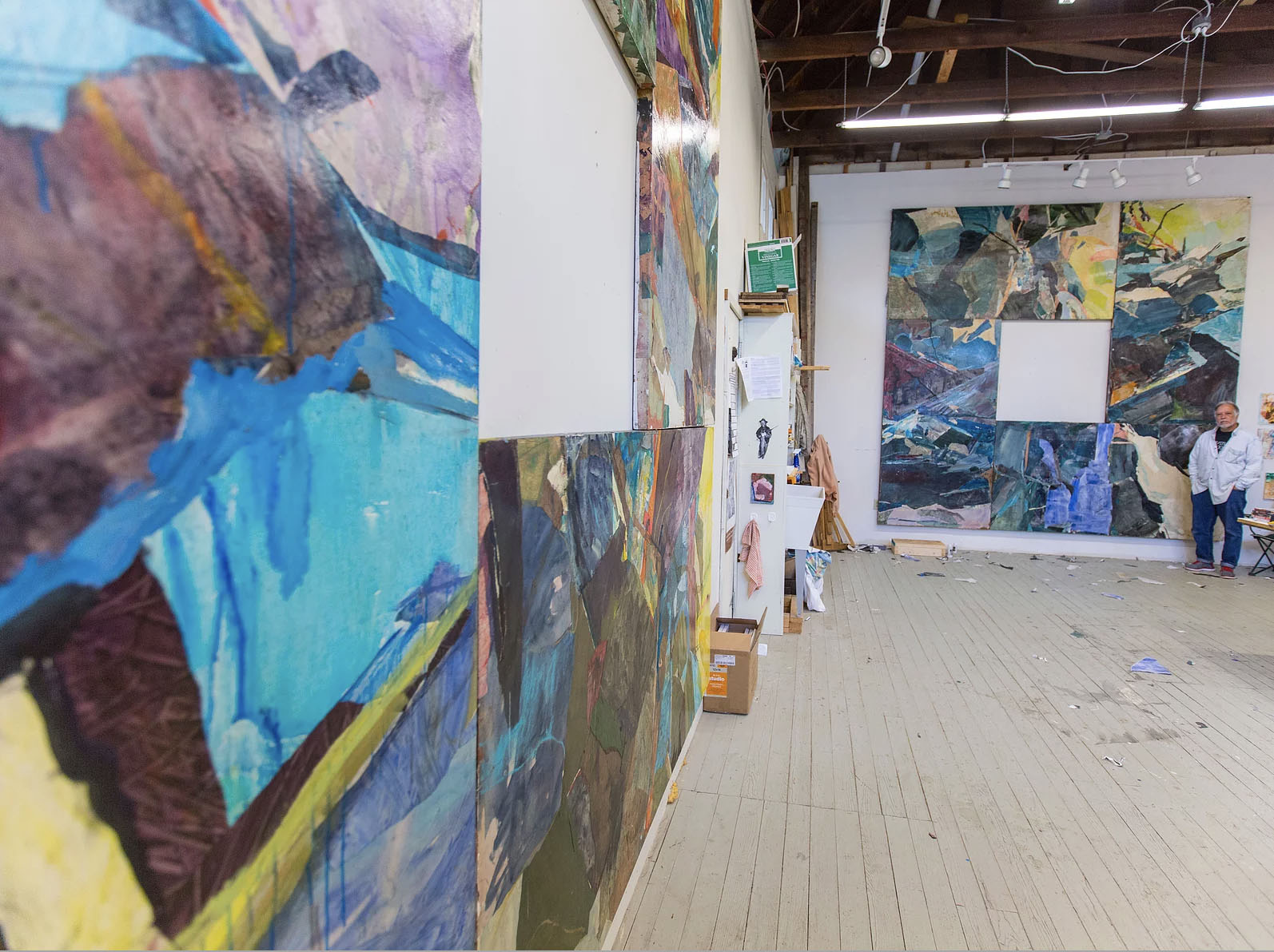 Don Kimes in his studio