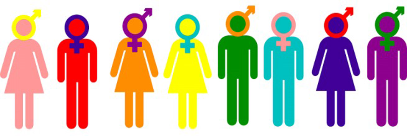 Figures with different gender symbols on them