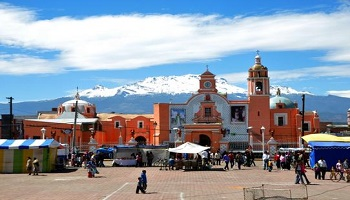 A South American city square