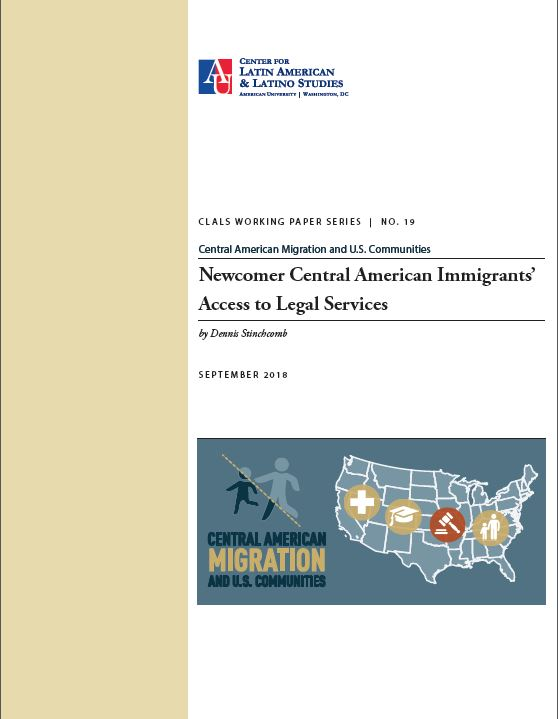 Newcomer Central American Immigrants' Access to Legal Services' Working Paper