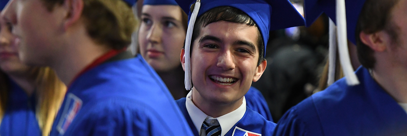 2017 Fall Commencement Gradudate smiling