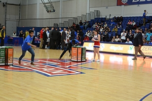People playing basketball in the Bender Arena