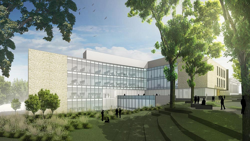 Architectural rendering of Hall of Science building