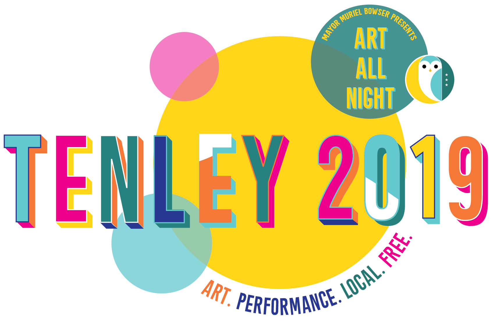 Mayor Muriel Bowser Presents: Art All Night - Tenley 2019. Art. Performance. Local. Free