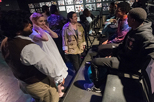 AU theater students interact with the audience