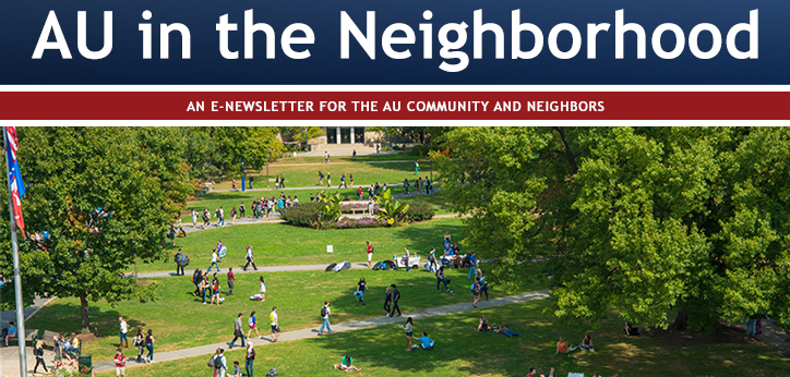American University Community Relations Newsletter Banner