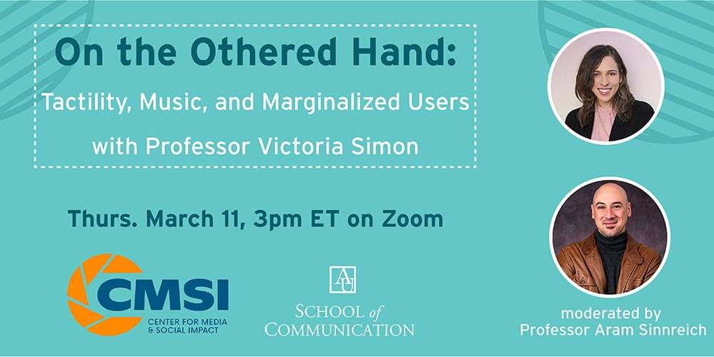 On the Othered Hand: Tactility, Music, and Marginalized Users with Professor Victoria Simon
