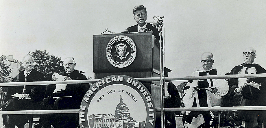 JFK at AU Building Peace for All Time