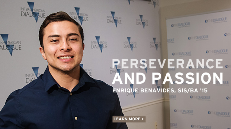 Perseverance and Passion: Enrique Benavides, School of International Service, Bachelor of Arts 2015