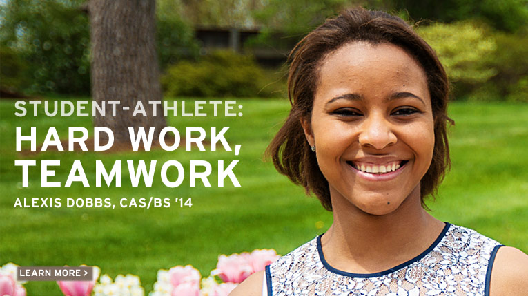 Student Athlete: Hardwork, Teamwork: Alexis Dobbs, College of Arts and Sciences, Bachelor of Arts, 2014