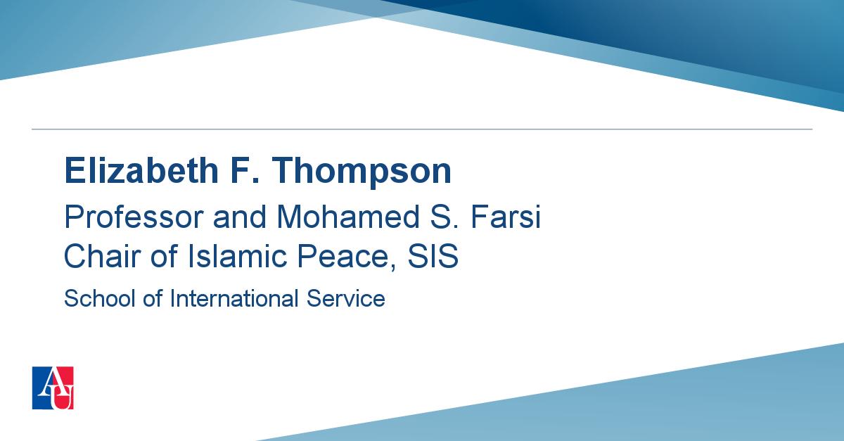 Faculty Profile: Elizabeth F  Thompson