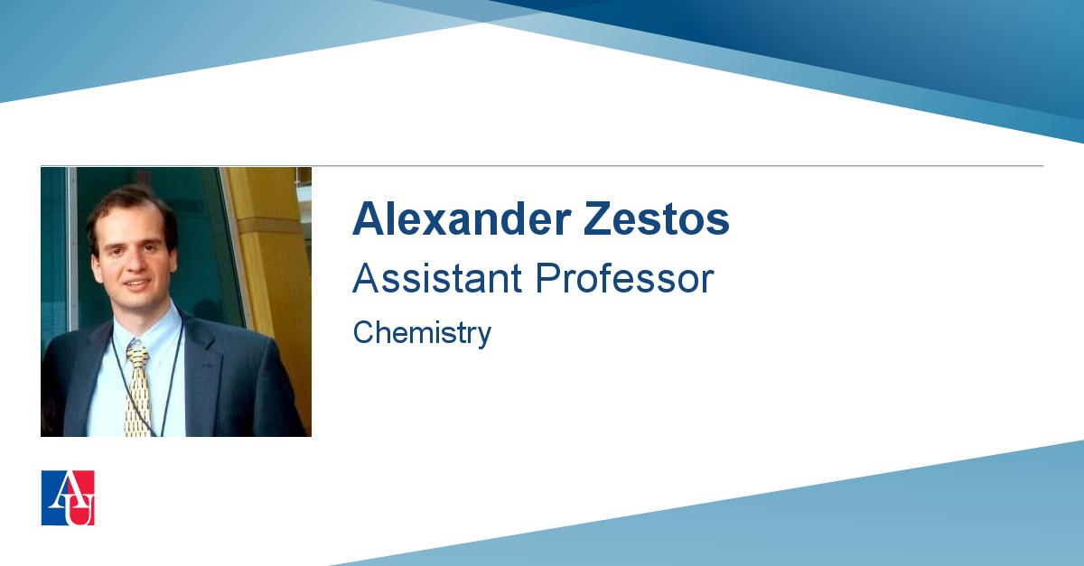 faculty profile  alexander zestos