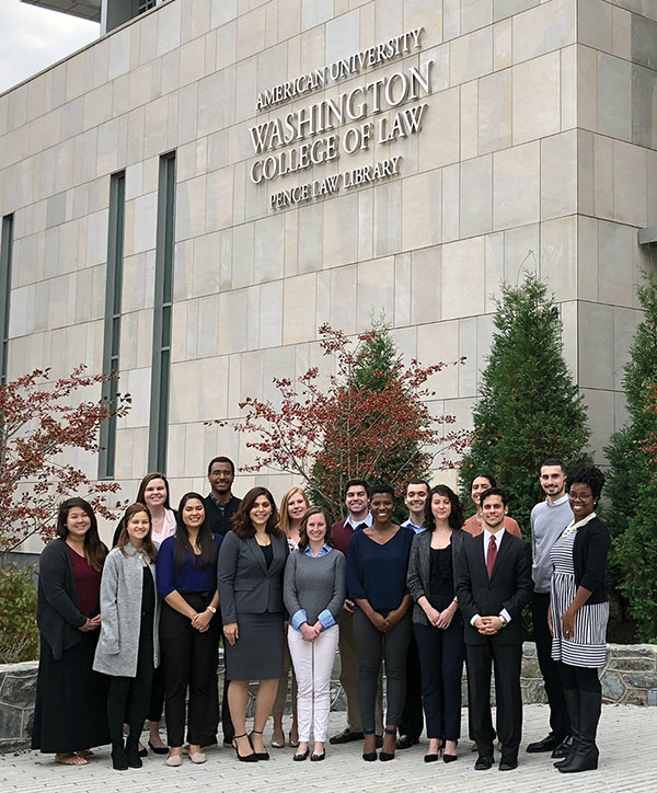 2017–2018 Marshall-Brennan Students at Washington College of Law